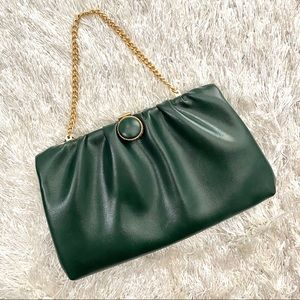 VNTG 1950s/60s HL Dark Green Evening Clutch Purse
